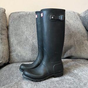 Hunter Matte Black Tall Original Rain Boots